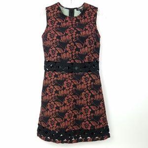 TOPSHOP Womens Heavyweight Weave Crochet Dress 4